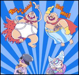 Half Naked Super Ojisan Heroes by mightyfilm