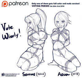 Fan Art Polling: Samus or Aqua? by Drag-B