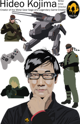 Hideo Kojima Vector by Kalazar321