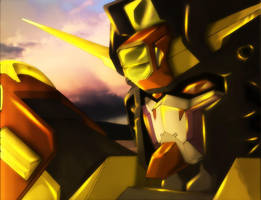 The Gundam's Sunset by Chaokaze