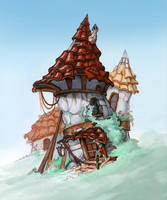 Small Old Tower by Mirchaz