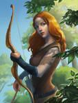 Bow Lady by Mirchaz