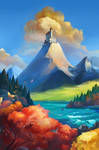 A castle on the hill by Mirchaz