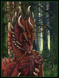 Orakeiros Dragon Poster by akeyla