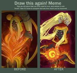 Draw this meme again : Nishi'kanta by AryaMaya