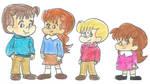 The Pevensie Children by omcgeachie