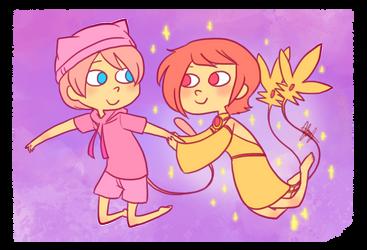 Pokemon OC: Mew + Mesprit by ky-nim