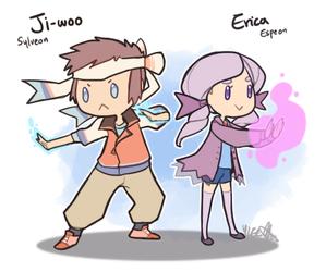 Pokemon OC: Ji-Woo + Erica by ky-nim