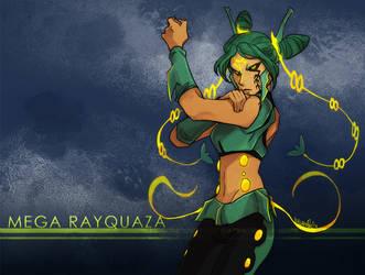Pokemon ORAS: MEGA Rayquaza by ky-nim