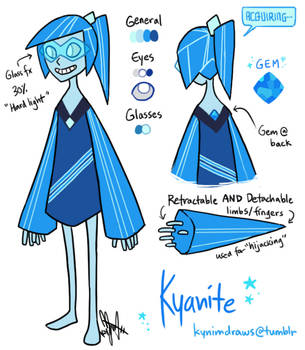 Steven Universe Gemsona: Kyanite by ky-nim