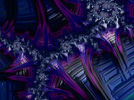 Blue Steampunk Fractal by laughingtube