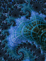 Crystal Blue Fractal by laughingtube
