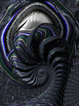 Alien Fractal Vortex by laughingtube