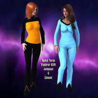 Explorer Uniform for Genesis 2 Female and Victoria by JeremyVilmur