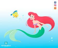 Ariel and Flounder by Memorabilia-Studios