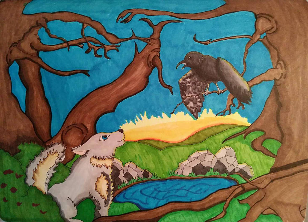 Crow and Wolf (Finished) by Wylburforce