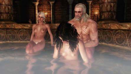 Taking a bath with Yen by TKone