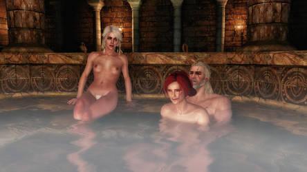 Taking a bath with Triss by TKone