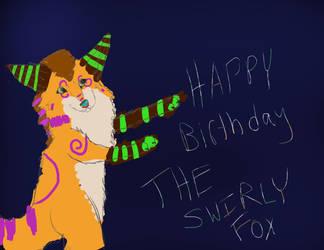 HAPPY BIRTHDAY THESWIRLYFOX by SpiritInSpace