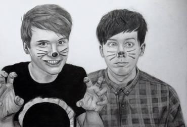 Dan and Phil by bowtiesrcwl
