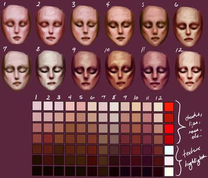 Skin tones by Enamorte