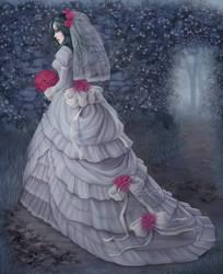 Bride in the garden by Enamorte