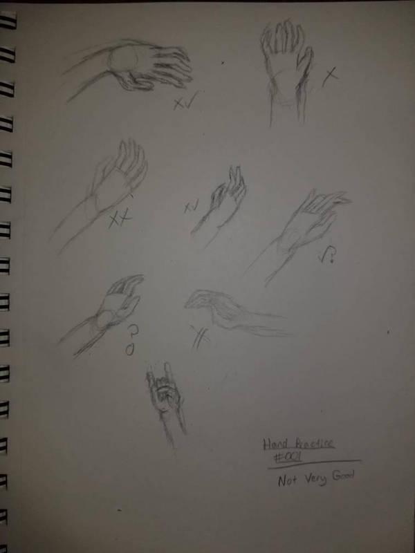 Hand Practice #001 by Xenrek