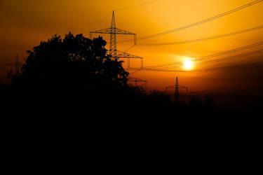 Sunset in Essen by Budeltier