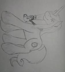 Azue's Pony form by RhythmRender