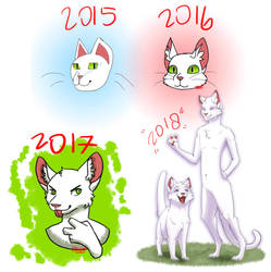 White Cat Of Improvement 2018 by Mozathecatdragon