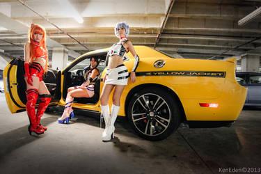 Evangelion Race Queens by Hikaru-Jan