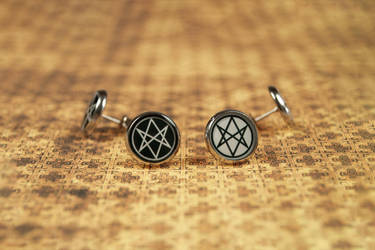 Men of Letters earrings by mygeekymuse