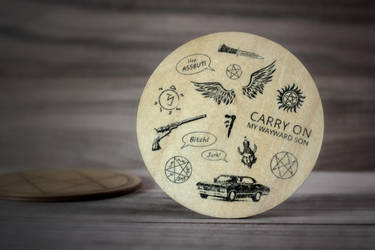 Supernatural coaster by mygeekymuse