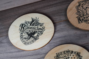 Ravenclaw coaster by mygeekymuse