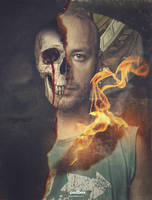 Skull Portrait Effect - Photoshop Tutorial by Andrei-Oprinca