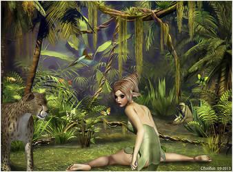 Perdue dans la jungle by cflonflon