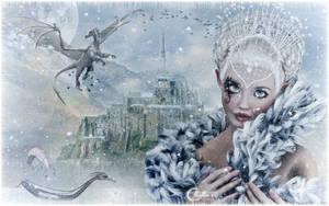 Reine des glaces et dragon by cflonflon