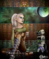 Alien au clair de l'espace by cflonflon