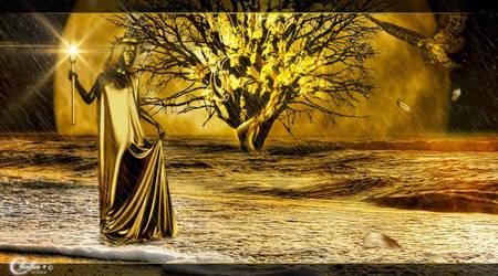Lune d'or by cflonflon