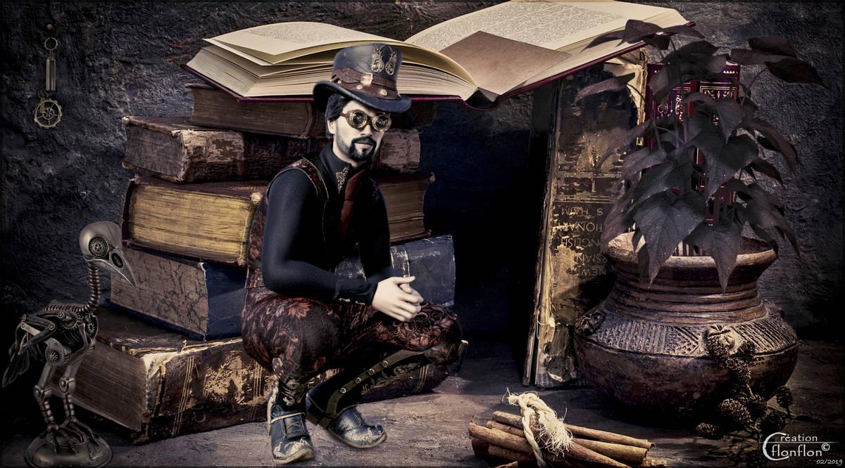 Steampunk En Bibliothque by cflonflon