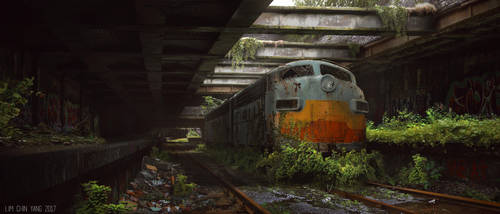 Abandoned subway station by AllenLimCy