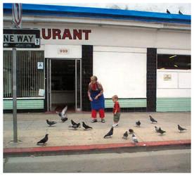 Feeding the Birds by Alpha0mega