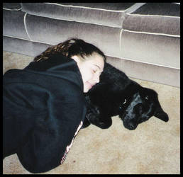 Me and Luke taking a nap by Alpha0mega