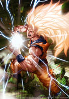 Super Saiyan 3 Son Goku by magion02