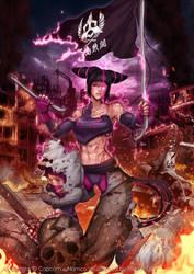 Juri Han x Shadaloo x Mishima by magion02