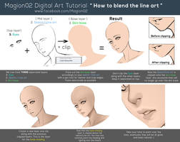 How to blend line art tutorial by magion02