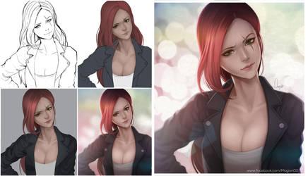 League of Legends Katarina Progress by magion02