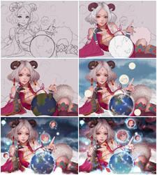 Guardian Spirit Fei Yen progress by magion02