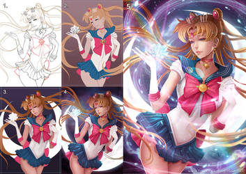 Sailor Moon Crystal Process by magion02