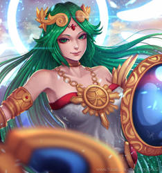 Goddess of Light Palutena by magion02